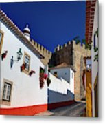 Portugal, Obidos, Street Of The Old Metal Print