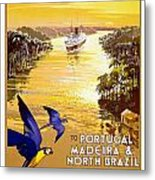 Portugal Vintage Travel Poster Metal Print