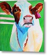 Posing Cow Metal Print