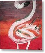 Posing Flamingo Metal Print
