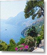 Positano Italy Amalfi Coast Delight Metal Print