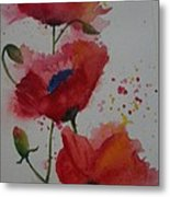 Positively Poppies Metal Print