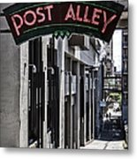 Post Alley Metal Print