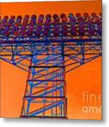Post Apocalyptic Light Tower Metal Print