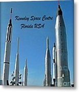 Post Card Of The Kennedy Space Centre Florida Metal Print