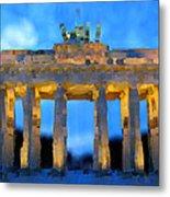 Post-it Art Berlin Brandenburg Gate Metal Print