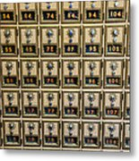 Post Office Combination Lock Boxes Metal Print