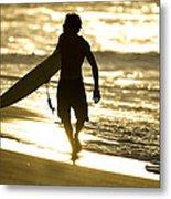 Post Surf Gold Metal Print