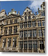 Postcard From Brussels - Grand Place Elegant Facades Metal Print