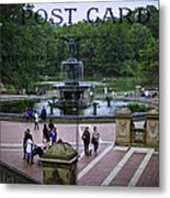 Postcard From Central Park Metal Print