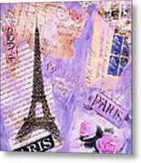 Postcard From Paris Metal Print