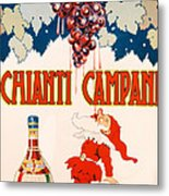 Poster Advertising Chianti Campani Metal Print by Necchi