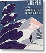 Poster Advertising The Canadian Ski Resort Jasper Metal Print