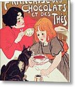 Poster Advertising The Compagnie Francaise Des Chocolats Et Des Thes Metal Print