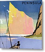 Poster Advertising The Gaspe Peninsula Quebec Canada Metal Print