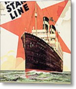 Poster Advertising The Red Star Line Metal Print