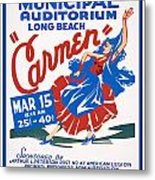 Poster For Production Of Carmen Metal Print