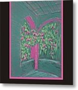 Poster - Green Patio Metal Print by Marcia Meade