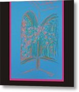 Poster - Light Blue Patio Metal Print by Marcia Meade