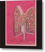 Poster - Light Pink Patio Metal Print by Marcia Meade