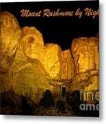 Poster Of Mount Rushmore Metal Print