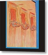 Poster - Orange Balconies Metal Print by Marcia Meade