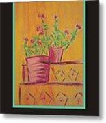 Poster - Orange Geranium Metal Print by Marcia Meade