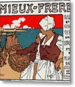 Poster Sardines, 1899 Metal Print