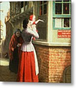 Posting A Letter, 1879 Metal Print