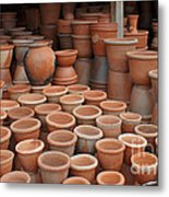 pottery in Madagascar Metal Print