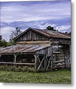 Pottsville Arkansas Historic Log Barn Metal Print