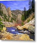 Poudre Canyon Metal Print