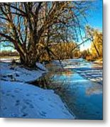 Poudre River Ice Metal Print by Baywest Imaging