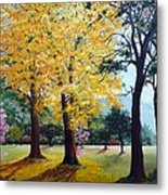 Poui Trees In The Savannah Metal Print