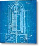 Poulsen Magnetic Tape Recorder Patent Art 1900 Blueprint Metal Print