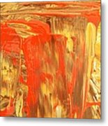 Pouring Red Metal Print
