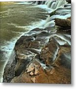 Pouring Through The New River Metal Print