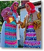 Pouring Wine For Guests In Demircidere Koyu In Kozak-turkey Metal Print
