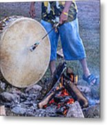 Pow Wow 58 Tuning The Drum Metal Print
