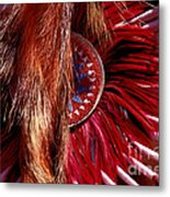 Pow-wow Costume Metal Print
