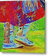 Pow Wow Dancing Metal Print