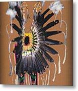 Pow Wow Regalia - Orange Metal Print