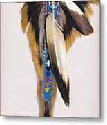 Pow Wow Regalia - White Metal Print