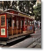 Powell And Market Cable Car Metal Print