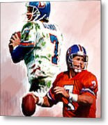 Power Force John Elway Metal Print by Iconic Images Art Gallery David Pucciarelli
