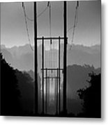 Power In The Morning Mist Metal Print