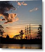 Power In The Sunset Metal Print