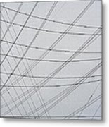 Power Lines Fill The Sky Metal Print
