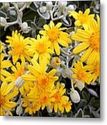Power Of Yellow Metal Print