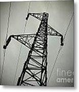 Power Pole Metal Print